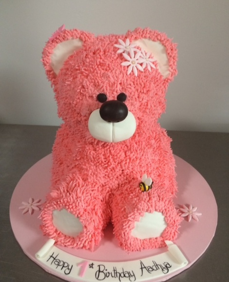 Pink Teddy cake