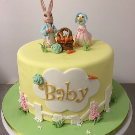 Peter Rabbit baby cake