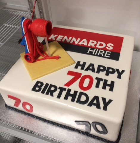 70th business birthday cake