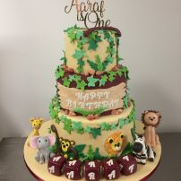 3 tier jungle cake