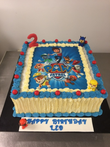 Paw patrol picture cake