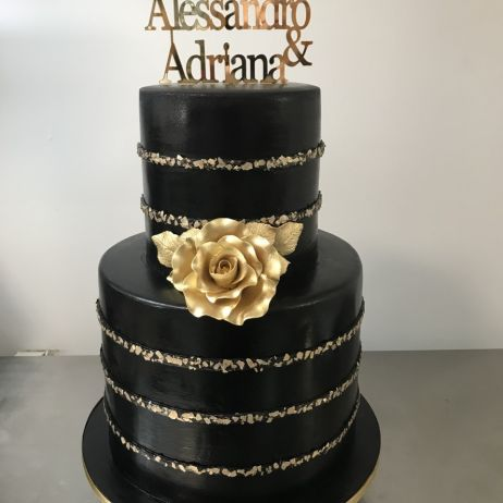 Black Engagement cake
