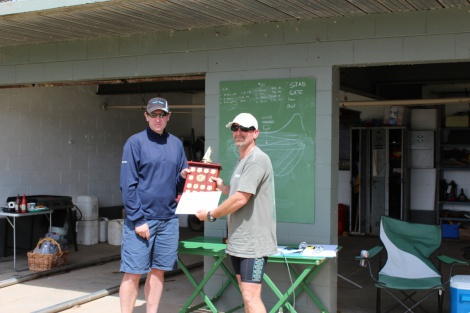 Steve Norris accepts his Multihull Yardstick trophy