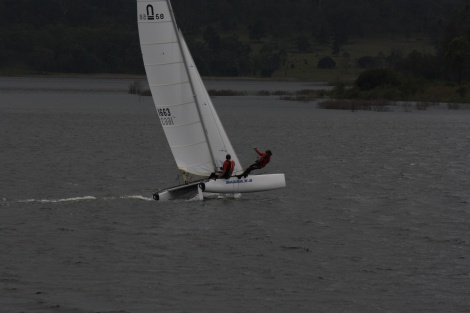Fun Sailing on a dark day.
