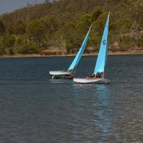Sailing on Cooby Dam