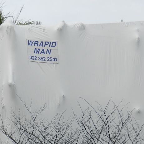 Shrink-wrap Installation during an addition project