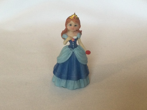 Princess figurine - Blue