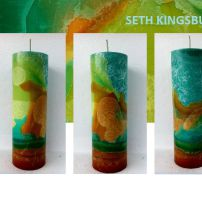 EARTH TALL CYLINDER CANDLE