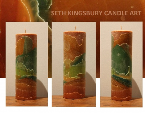 Sepia Earth Tall Cylinder Candle