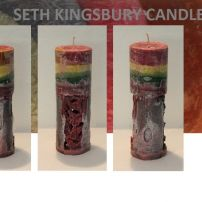 Barrier Reef Sunset Incense Tall Cylinder 2 candle