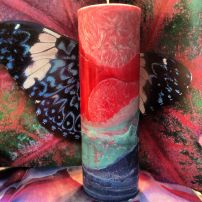 New Beginnings tall candle