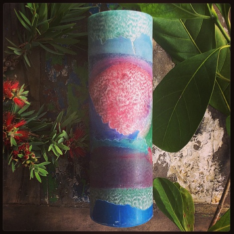 Tropical days tall cylinder candle 1
