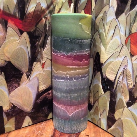 'Natures layers' Cylinder Candle