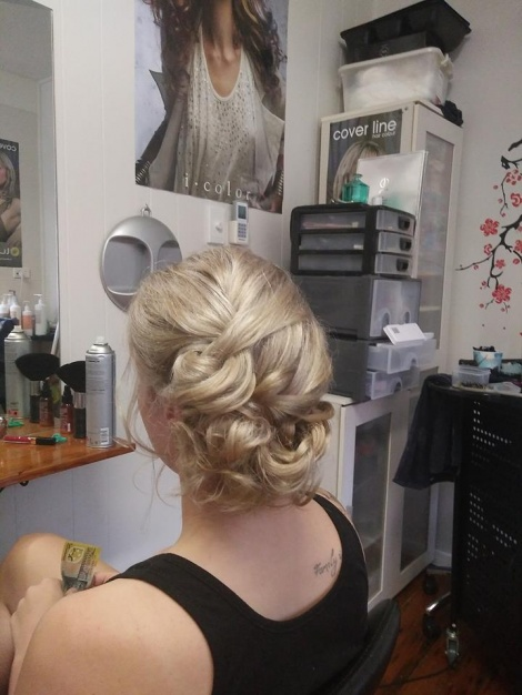 Hair up for ball