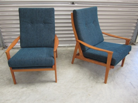 Armchairs after restoration