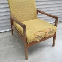 Fineline(NZ) Mid Century Chair before restoration