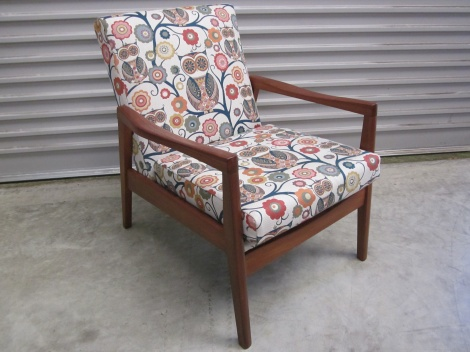 Fineline (NZ) Mid Century  Chair after restoration