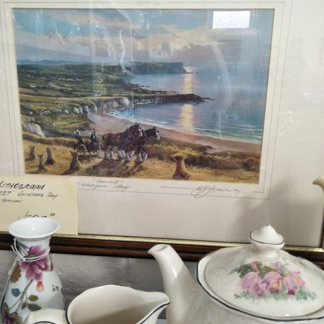 Signed 'Harvest' lithograph by W Yeaman