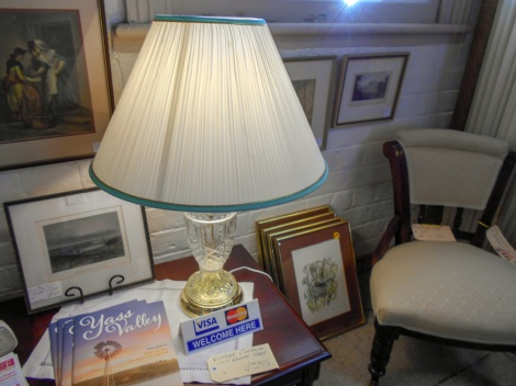 Crystal table lamps x 2