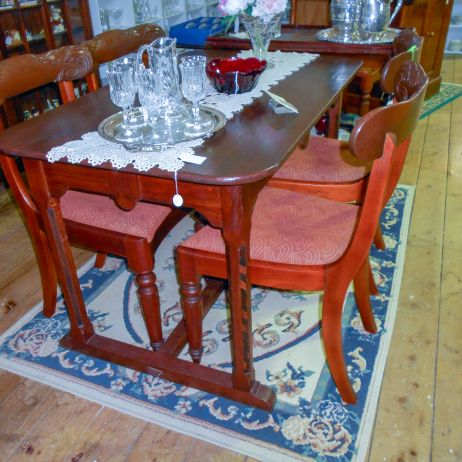 Old English breakfast table