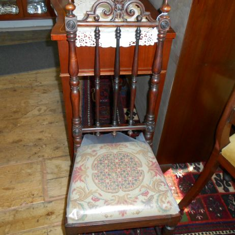 Original Gothic Revival chair with upholstered seat