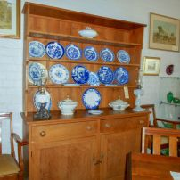 Large colonial pine dresser