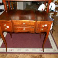 Unusual Art Deco dressing table (top and drawers closed)