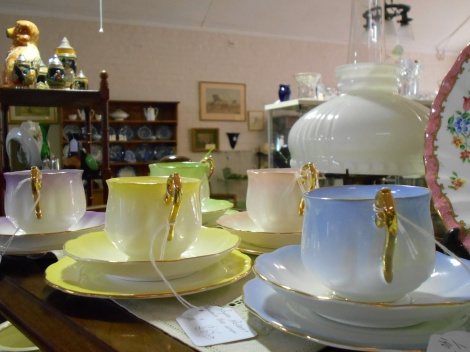 Various colour Royal Albert trios
