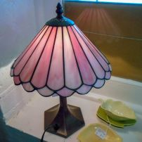 Pair of lamps with pink shades