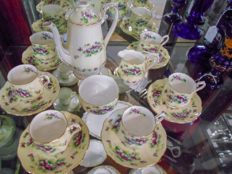 Rare early issue Royal Albert Sweet Violets coffee set