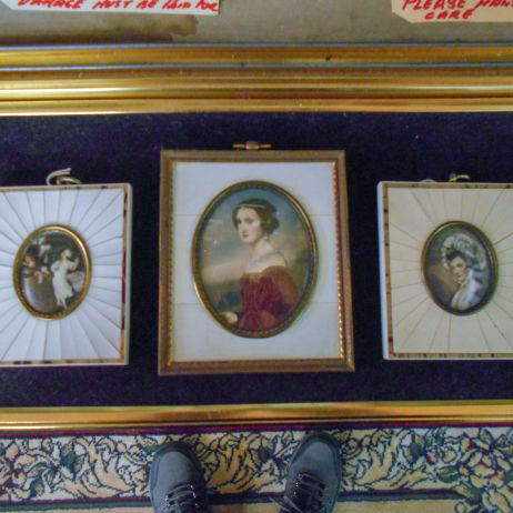 Miniature framed portraits