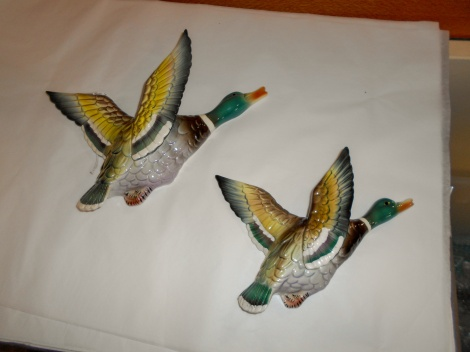 Pair of wall mounted ducks