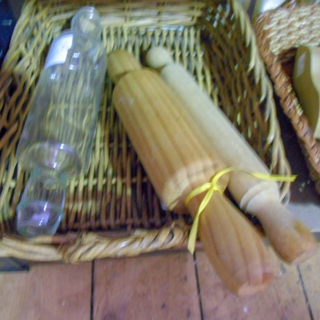 Wooden and glass rolling pins