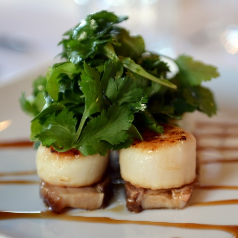 Scallops on Pork Belly