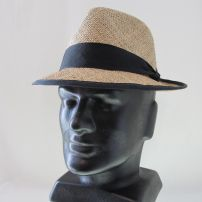 Men's Trilby Seagrass Black