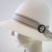 Evelyn Plain Edge Cloche with Coconut Buckle