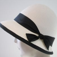 Rosie Yarn Cloche with Black Trim