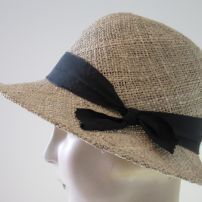 Bessie Seagrass Plain Edge Cloche