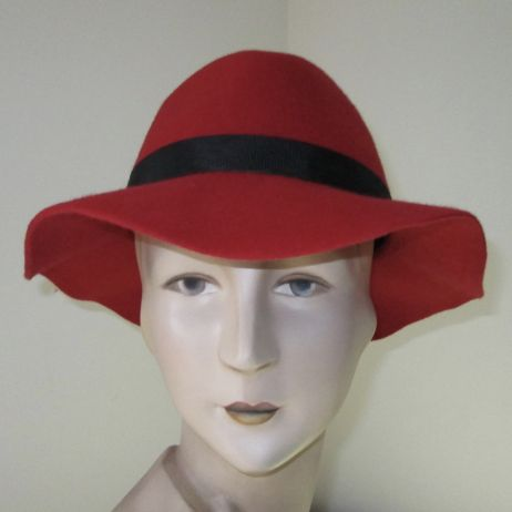 Bardot Red Fedora