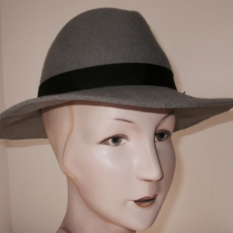 Bardot Light Grey Fedora