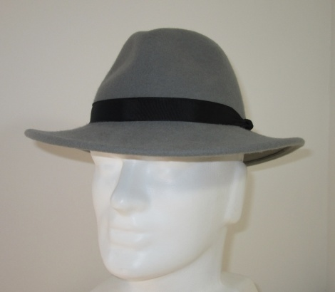 Men's Light Grey Felt Fedora