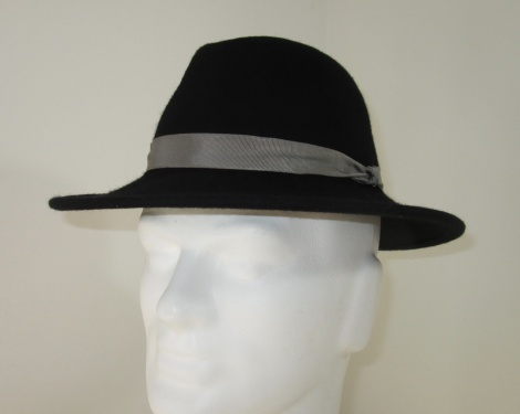 Men's Black Felt Fedora