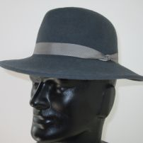 Men's Blue Grey Felt Fedora