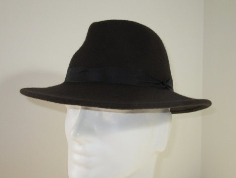 Men's Brown Felt Fedora