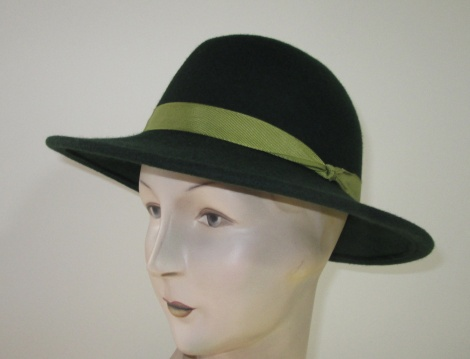 Women's Green Felt Fedora