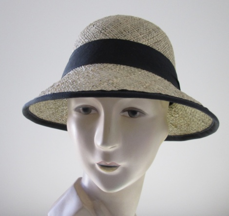 Bessie Seagrass Cloche with Ribbon Edge