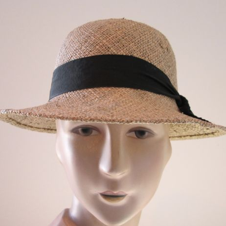 Bessie Seagrass Cloche with Plain Edge
