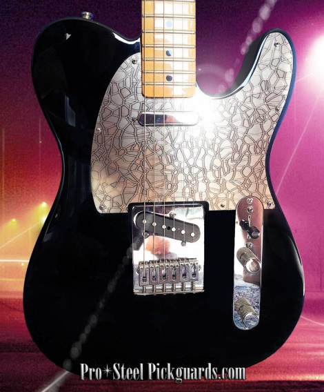 'BRONZO STACCO' - FENDER TELECASTER METAL PICKGUARD