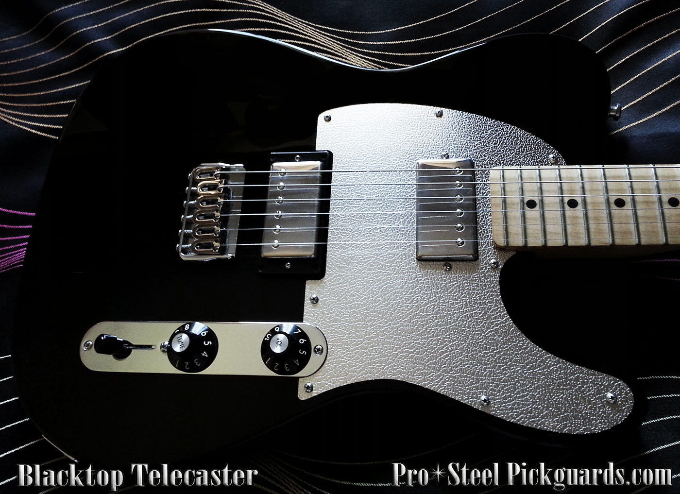 New Buffalo Fender Blacktop Telecaster Steel Pickguard Pro