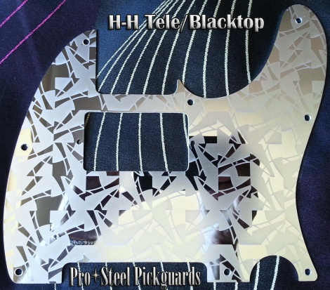 Kaleido HH Tele Guard or Blacktop Telecaster Etched Mirror Stainless Steel Pro Steel Pickguard